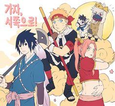Sasuke, Sakura, Naruto e Kakashi Anime Naruto, Sasuke X Naruto, Naruto Comic, Naruto Cute, Naruto Funny, Naruto Shippuden Anime, Boruto, Narusaku, Sasunaru
