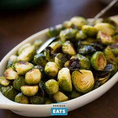 The goal here—and with most brussels sprouts recipes, in fact—is to cook them fast, and cook them hard so they char and caramelize, their leaves turning crispy, brown, and nutty, and their natural sugars breaking down into sweeter simple sugars.