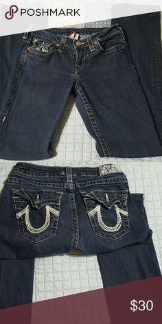 True Religion dark wash jeans. True Religion  women's jeans dark wash. True Religion Jeans Straight Leg