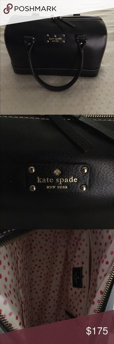 Rare Kate Spade Dr Bag 13x6x9 This huge rare Kate Spade is a one of a kind find! Ready to let someone else enjoy it! Black in color, gold hardware, pink polka dots inside. No stains excellent condition!! kate spade Bags