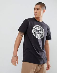 new product 013c6 b4b39 DC Shoes T-Shirt with Chest Logo Print in Black