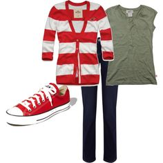 every girl needs a pair of chucks and a cardigan to match :]