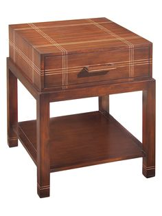 Attache Plaid Side Table from Up to 80% Off: Traditional Furniture on Gilt
