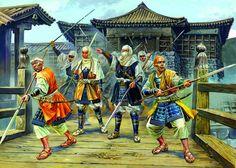 A. Yezhov - Monjes guerreros (sohei) japoneses.