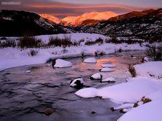 Colorado mountains, snow, river - Google Search