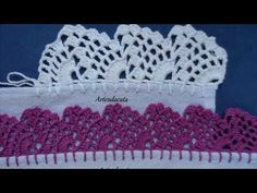 Crochet Flower Tutorial, Crochet Flowers, Crochet Lace, Crochet Borders, Filet Crochet, Crochet Designs, Crochet Patterns, Hand Embroidery Designs, Projects To Try