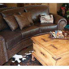 not a leather couch, but something similar :)
