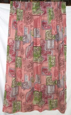 Pink Art Curtain