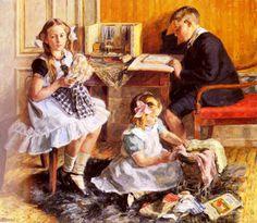 Passatempos das crianças, 1905-1910 Gad Frederik Clement ( Dinamarca 1867-1933) Óleo sobre tela