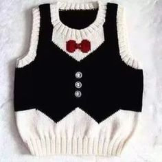 Hand Knitted Baby Boy Sweater Unique Vest Design by YarnsInMotion Baby Knitting Patterns, Knitting Designs, Baby Patterns, Crochet For Boys, Knitting For Kids, Hand Knitting, Knitting Needles, Boy Crochet, Beginner Knitting