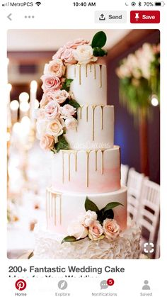 Drippy wedding cake