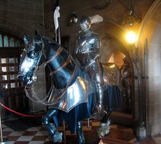 Knight and horse in armour in Warwick Castle, Warwick, England  Bernard Gagnon