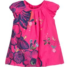 Baby Girls Pink Floral Cotton Dress with Knickers, Catimini, Girl