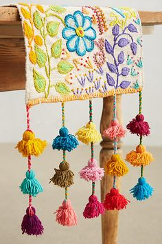 Tassel Stitch Table Runner - anthropologie.com