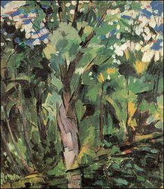 Trees -Klyazma (1918) Aristarkh Vasílievich Lentulov (Аристарх Васильевич Лентулов. Unión Soviética. Rusia, 1882-1943)