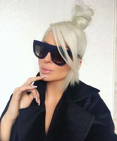Image about blonde in Jelena Karleuša by anja Black Aviator Sunglasses, Black Aviators, Summer Sunglasses, Sunglasses Women, Hair Plugs, Cool Glasses, Glasses Frames, Shady Lady, Dope Hairstyles