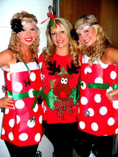 Tacky Christmas Diy Presents Cheapest Costume Ever No Glue