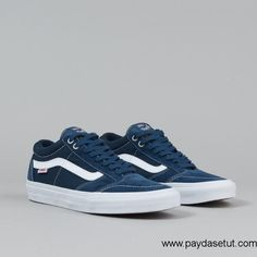2016 Vans TNT SG Shoes – (Washed Canvas) Navy / White Women/Men