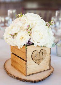 Chic wedding centerpiece idea; photo: Candice Benjamin