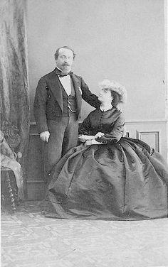 Empress Eugénie and Napoleon III portrait