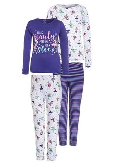 Bestill Carter's GIRL BEAUTY NEEDS HER SLEEP 2 PACK - Pyjamassett - purple for kr 212,00 (09.12.17) med gratis frakt på Zalando.no Karl Lagerfeld, Calvin Klein, Underwear, Pajama Pants, Pajamas, Sleep, Purple, Beauty, Fashion