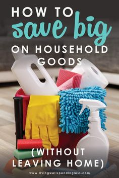 Wondering how to save big on household goods? Soap, diapers, paper towels and detergent can all add up fast on your grocery bill. Here's a secret tip you need to know if you want to save on household goods without ever leaving home! #householdgoods #savingtips #buyingtips #GroceryHacks #GroceryTips #savemoney #frugal #debtfree #saving #deals #couponer #personalfinance  Save BIG on Household Goods | Save Money on Household Items | Budgetting Hacks | Money Saving Tips