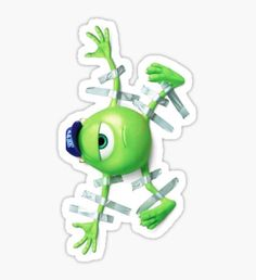 """""""Mike Wazowski """" Stickers by cwalter Stickers Cool, Bubble Stickers, Printable Stickers, Cute Disney, Funny Disney, Disney Memes, Disney Diy, Disney Quotes, App Background"""