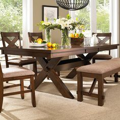 Shop for Powell Furniture Kraven Dining Set - Dining Table And Side Chairs, and other Dining Room Sets at Merinos Home Furnishings in Mooresville, NC.