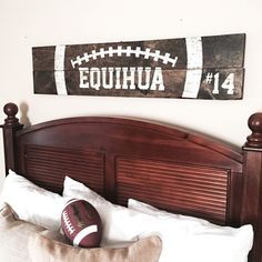 Board & Brush Project Gallery – Wood Signs – Wood Sign Classes – Board and Brush Football Rooms, Football Bedroom, Football Signs, Football Crafts, Sports Signs, Football Decor, Football Info, Do It Yourself Furniture, Hamster