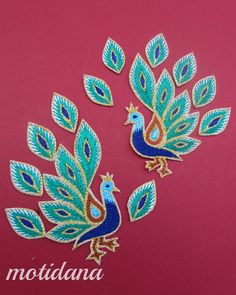 embroidery patterns from india - Yahoo Image Search Results Kasuti Embroidery, Hand Embroidery Dress, Beaded Embroidery, Embroidery Stitches, Bead Embroidery Patterns, Folk Embroidery, Peacock Embroidery Designs, Embroidery Suits Design, Creative Embroidery
