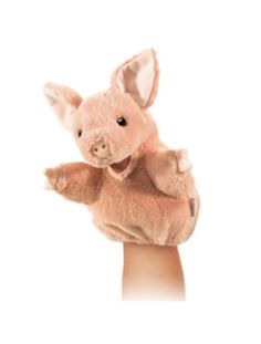 Little Pig Hand Puppet on www.LisaReinicke.com. This cute puppet goes great with Arnold, The Cute Little Pig With Personality by award-winning, best-selling author Lisa Reinicke.