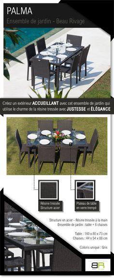 Salon De Jardin Table Ocean 6 Fauteuils Aruba Coloris Taupe Taupe Oc An Et Tables