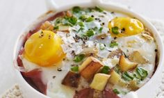 Baked Eggs with Potatoes Recipe