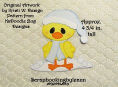 Winter Chick Paper Piecing by LeannScraps | Paper Crafts Ideas