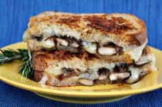 Grilled Cheese with Mushrooms & Balsamic Onions