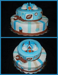 593 best boy baby shower cakes images in 2017 Baby Shower Games Unique, Baby Shower Drinks, Baby Shower Cakes For Boys, Baby Shower Brunch, Baby Shower Favors, Baby Boy Shower, Baby Showers, Sports Baby, Baby Shower Dresses