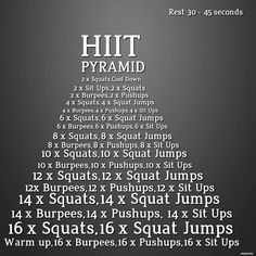 1000 Images About Pyramid Workout On Pinterest Pyramid Workout