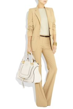 Chloé|Marcie Large textured-leather tote|It's big it's sassy and I want!