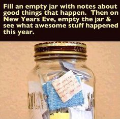 This would be an awesome idea! But instead of it being just a one person thing all year, have a table set up and have people write down some Events that happened in their life this year and an hour before midnight one person read them:)))