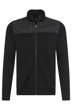 'Sommers'   Cotton Blend Zip Sweat Jacket 'Sommers'   Cotton Blend Zip Sweat Jacket, Black