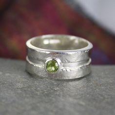 silver and peridot Rill ring £68.00