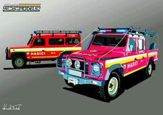 Land Rover Defender Fire truck