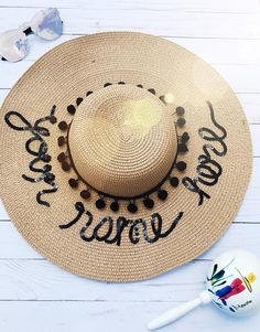 Custom Beach Hat Sun hat Wide Brim Sun Hat Custom Sun Hat