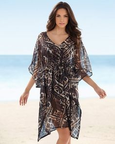 a8a5dde3b2c6d Soma Intimates Magicsuit Ivory Coast Caftan Swim Cover Up #somaintimates Swim  Cover, Cover Up