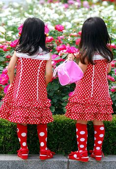 Cutest double polka dots!