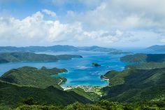 Complicated Japanese coastline, Amami Islands, Japan