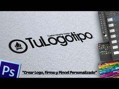 Crear Logo, Firma y Pincel Personalizado en Photoshop. - YouTube