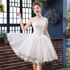 花嫁ミニドレス花嫁二次会白いドレスウェディングドレス結婚式二次会ドレスミニスカートエンパイアドレスショートドレスプリンセスラインウェディングミニドレスフォーマルドレスMiniDress