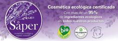 Cosmética ecológica certificada con un 95% de ingredientes ecológicos certificados. Cosmética efectiva gracias a los principios activos de las plantas.