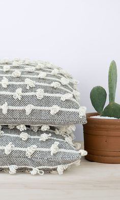 In love with these wool floor pillows from The Citizenry! They are perfect as foot-rest, laptop stand, or extra seating for guests. Not to mention, they are pretty enough to just stand on their own. Your house needs these guys! #ad